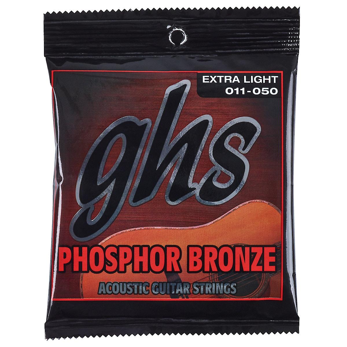 Stålsträngar för gitarr GHS Phosphor Bronze