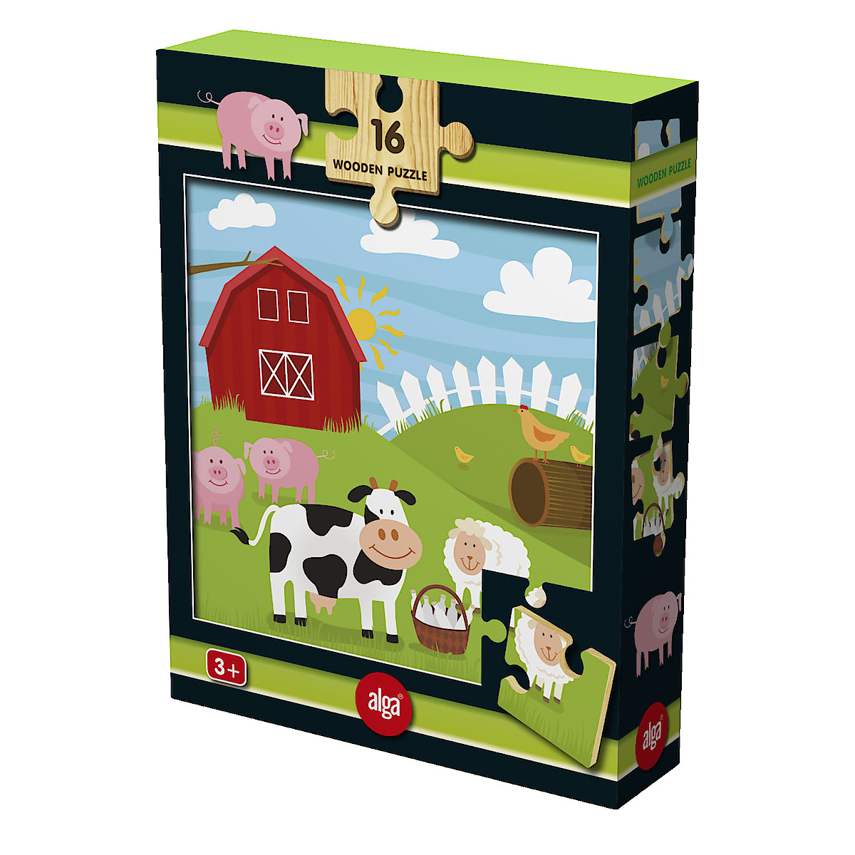 Alga Farmyard Animals Jigsaw Puzzle