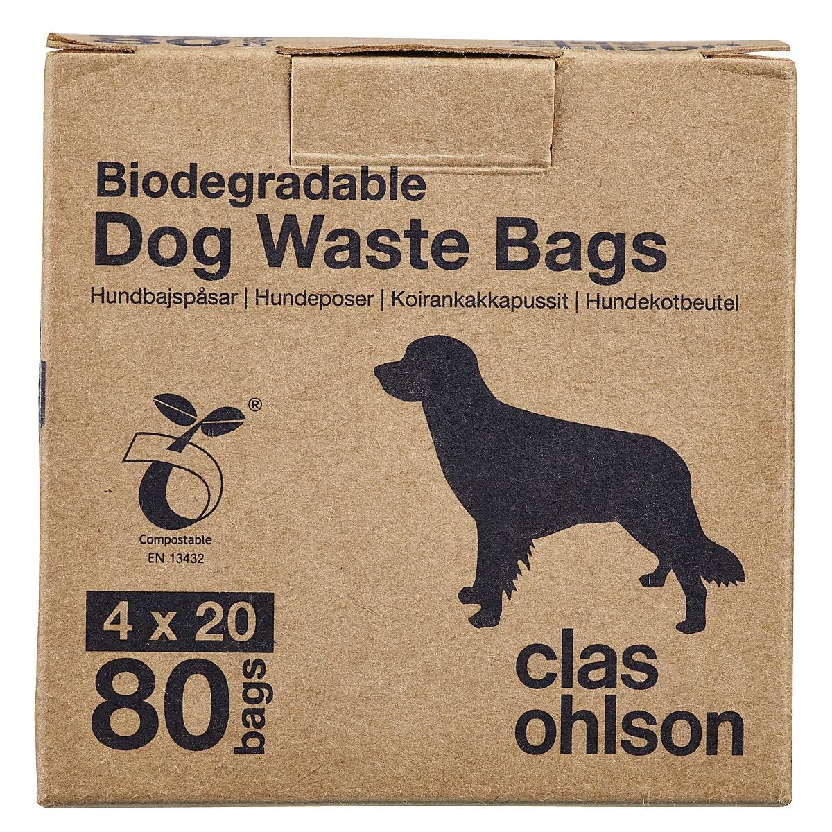 Hundbajspåsar 80-pack