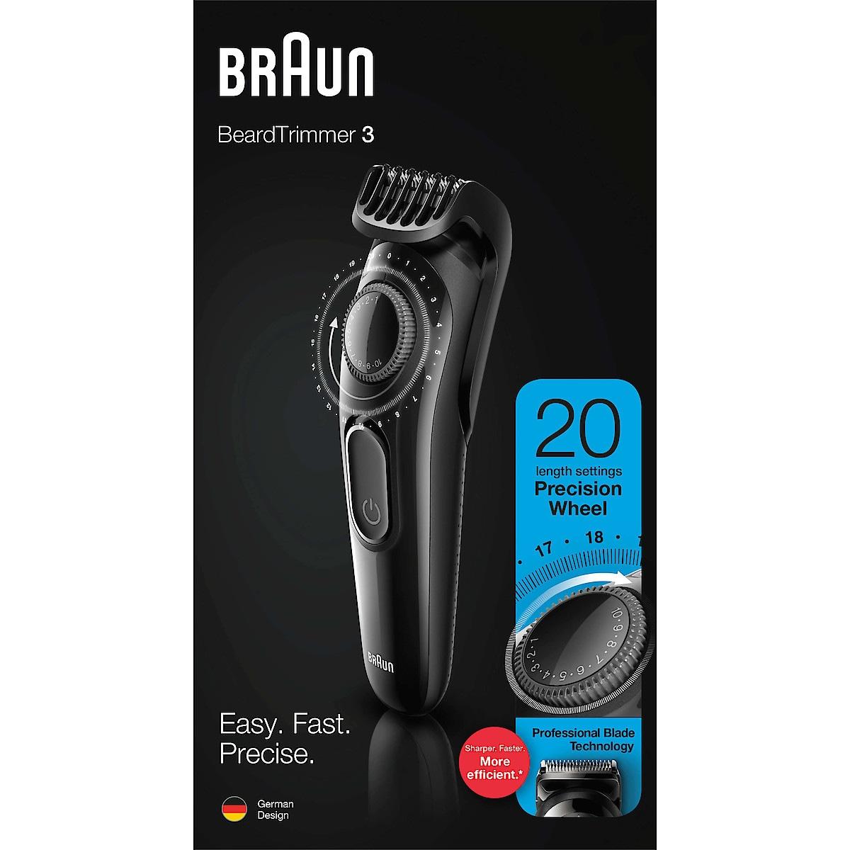 Braun BT3222, skäggtrimmer
