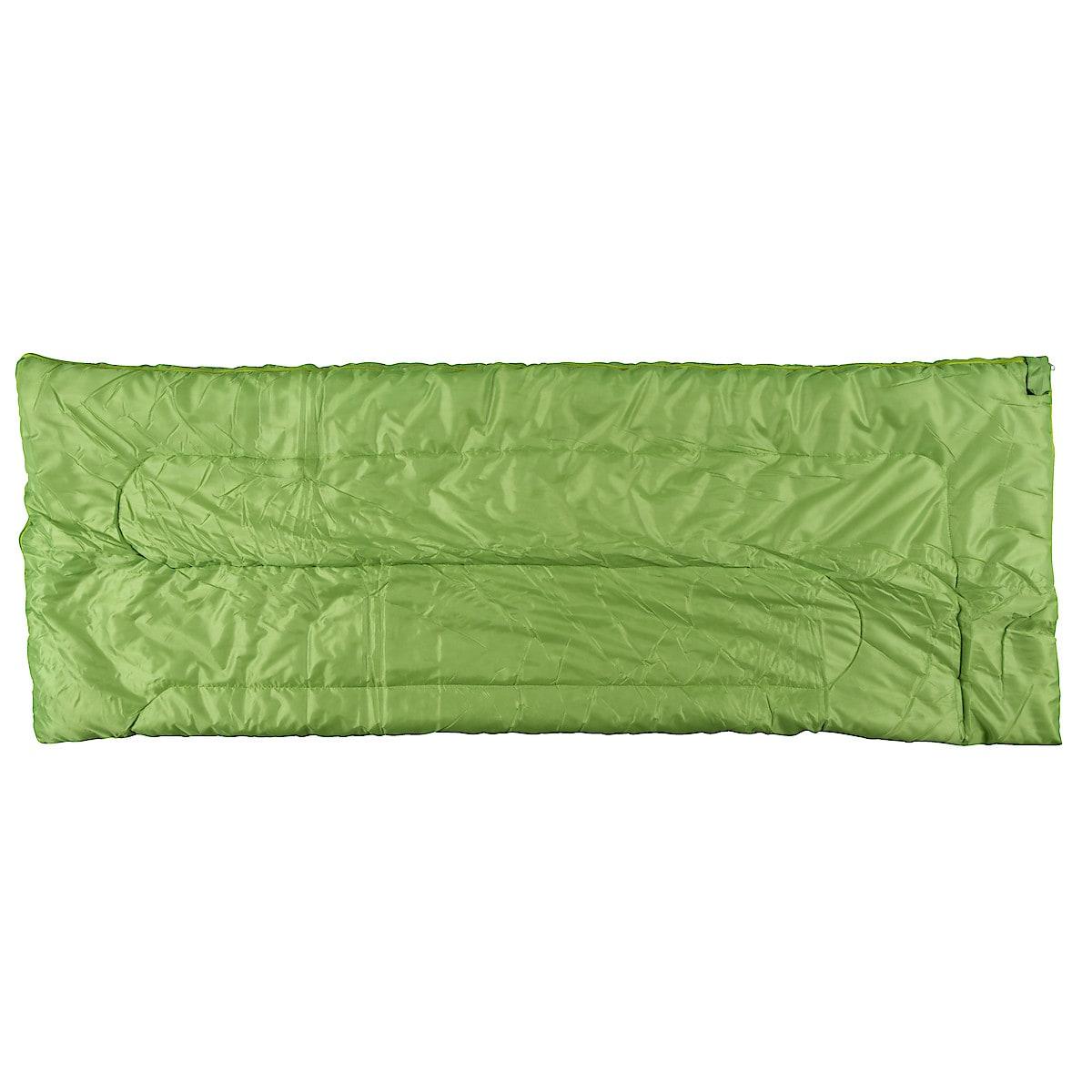 Teltta, makuupussi ja makuualusta