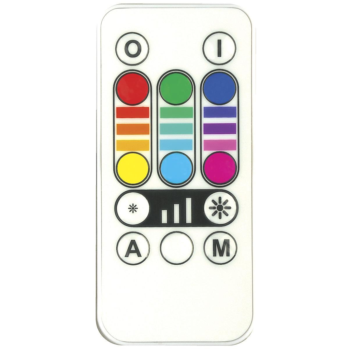 LED RGB-pære med fjernkontroll, 3,2 W