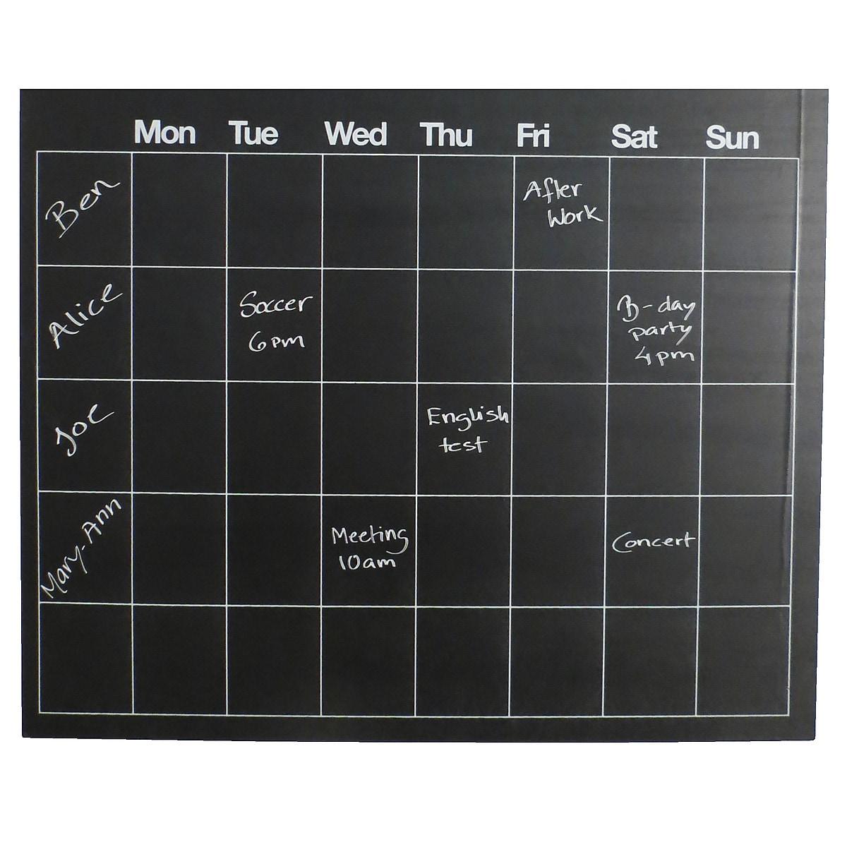 Selbstklebende Schultafel, Wochenplan