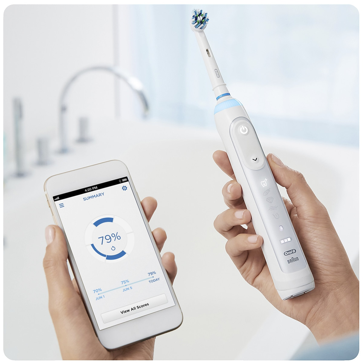 Sähköhammasharja Oral-B Genius 8100S White