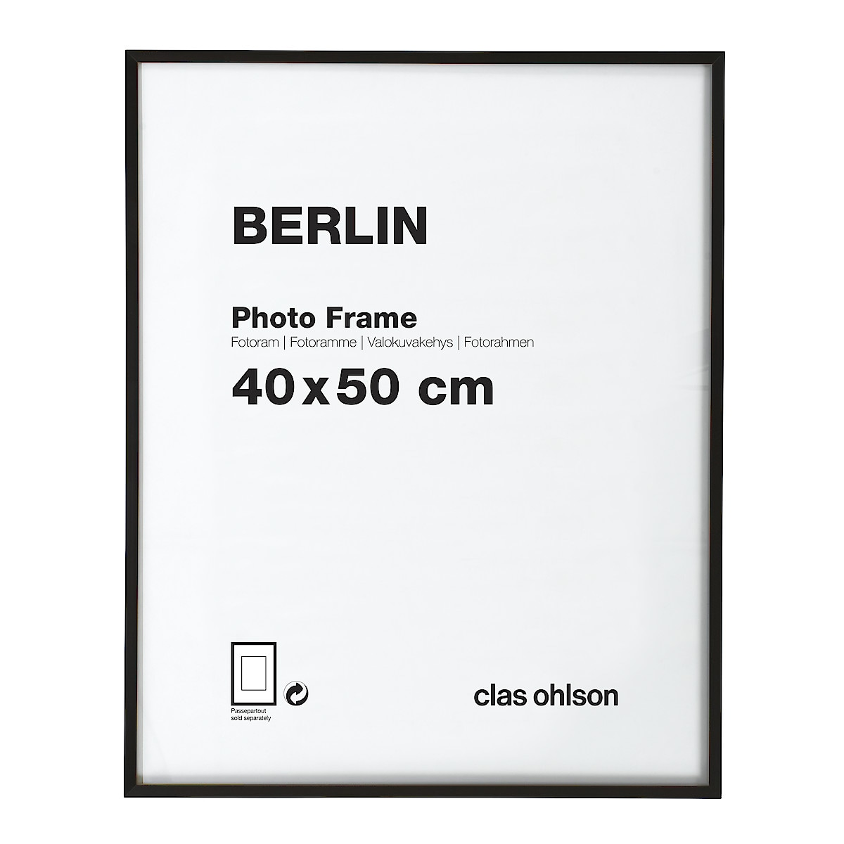 Fotoram Berlin svart