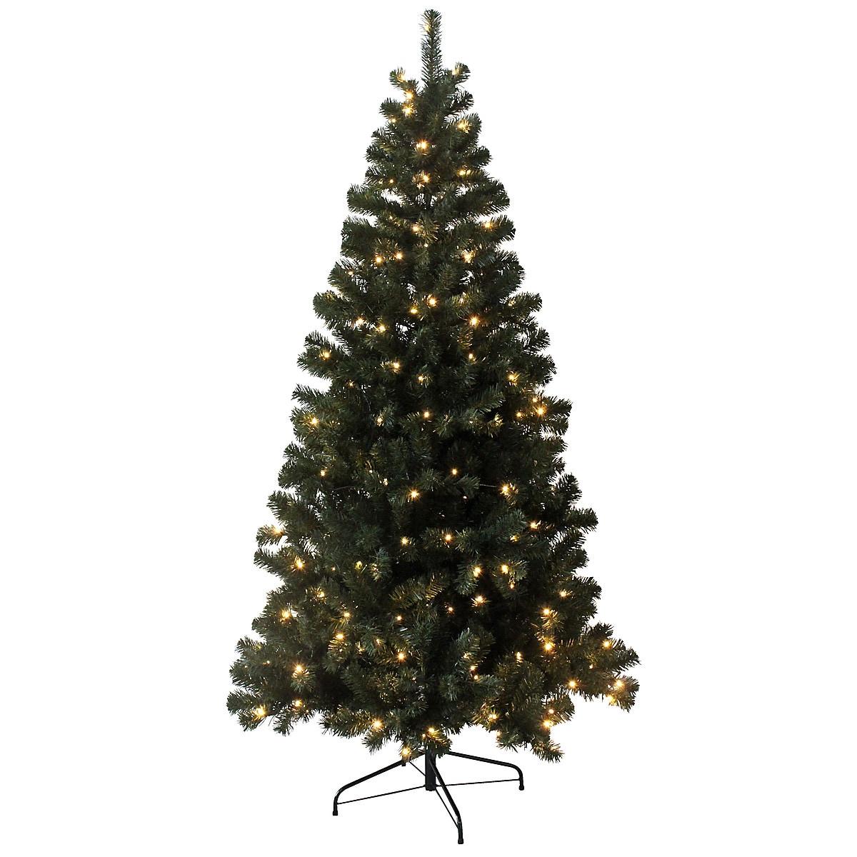 Juletre med innebygd belysning, 210 cm