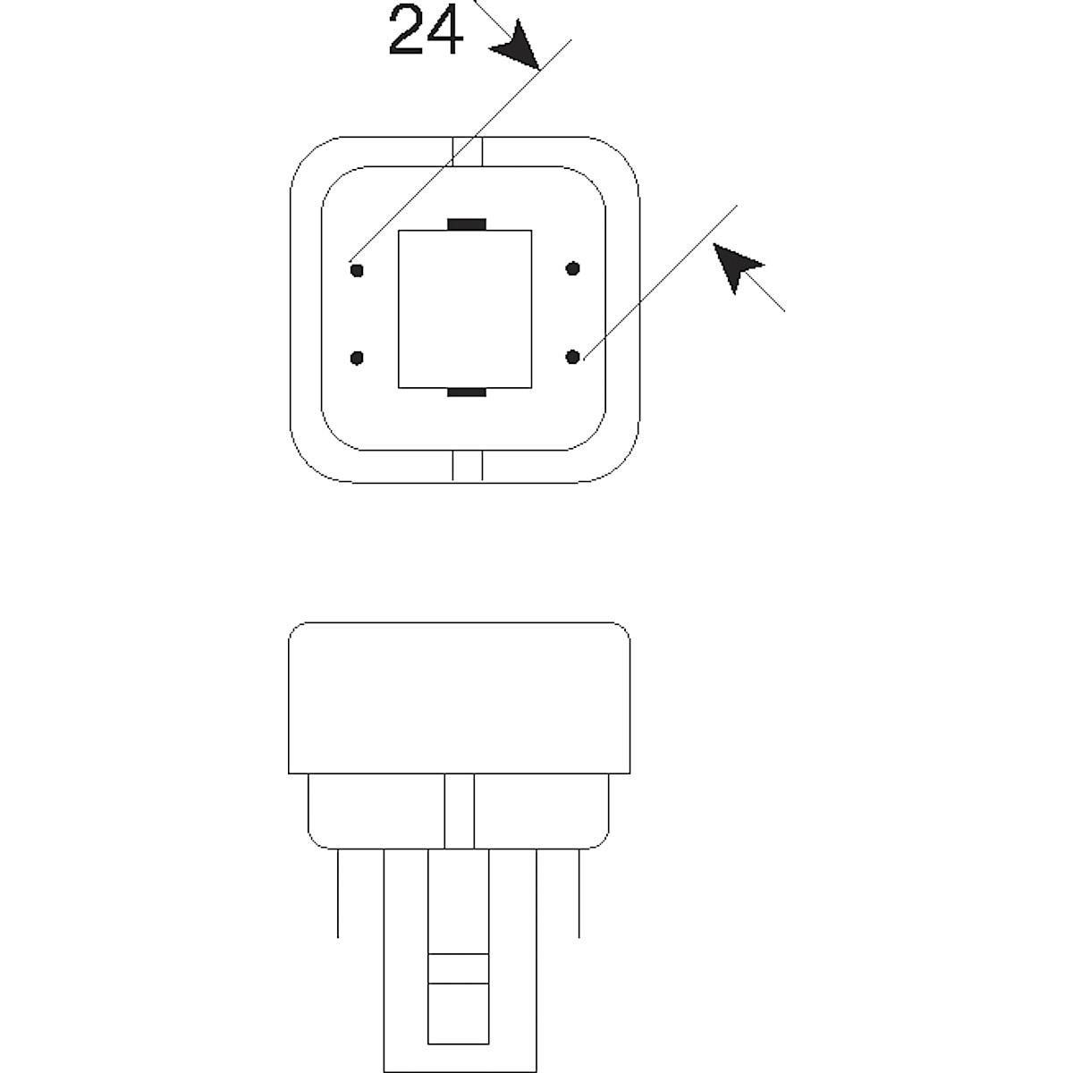 Osram kompaktlysrør 827, G24Q