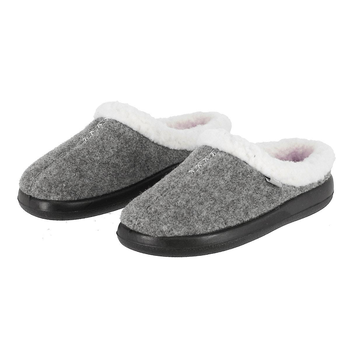 Ladies Slippers, Grey