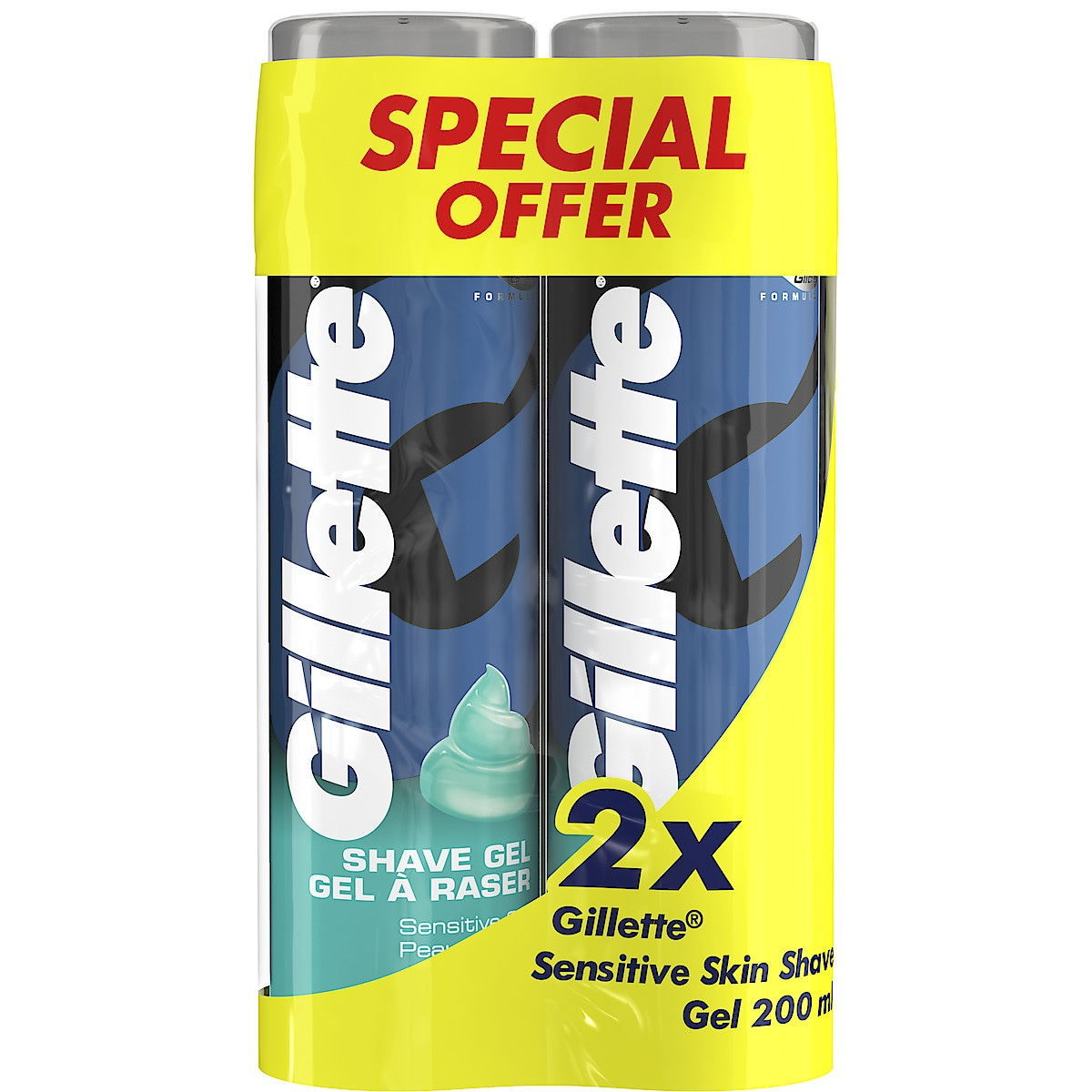 Rakgel Gillette Series Sensitive Skin 2-pack