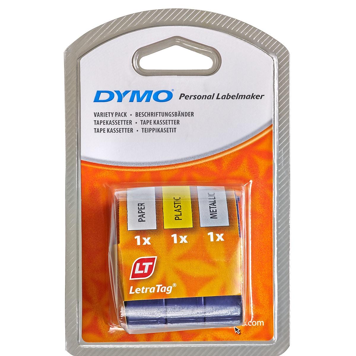 Märkband Dymo LetraTag 3-pack