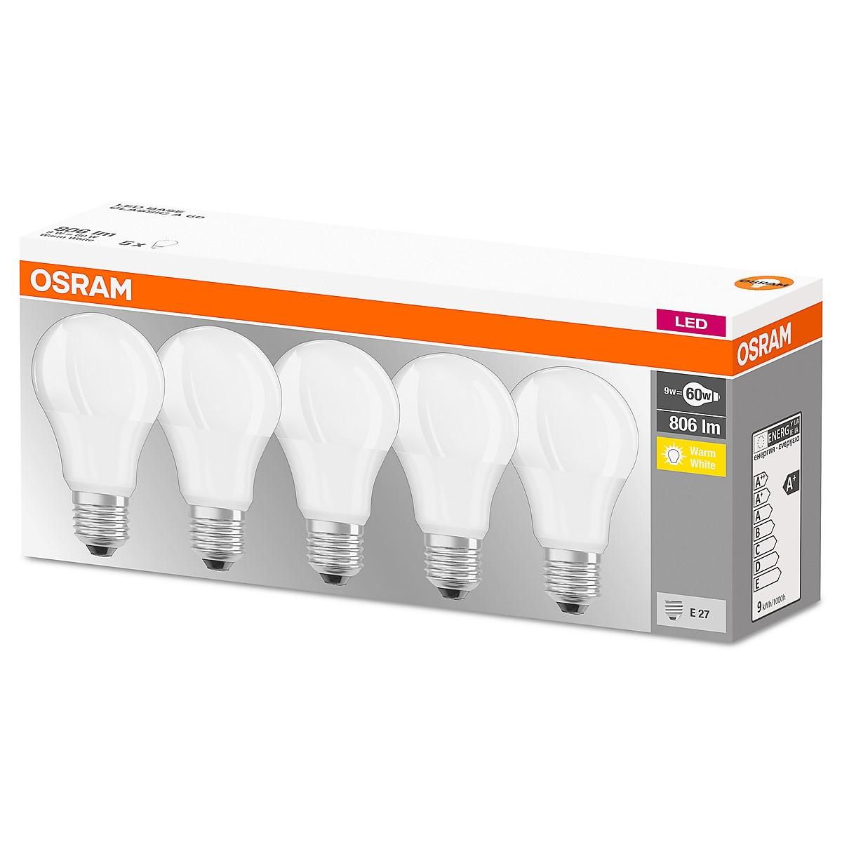 LED-lamppu Osram LED Classic E27 5 kpl