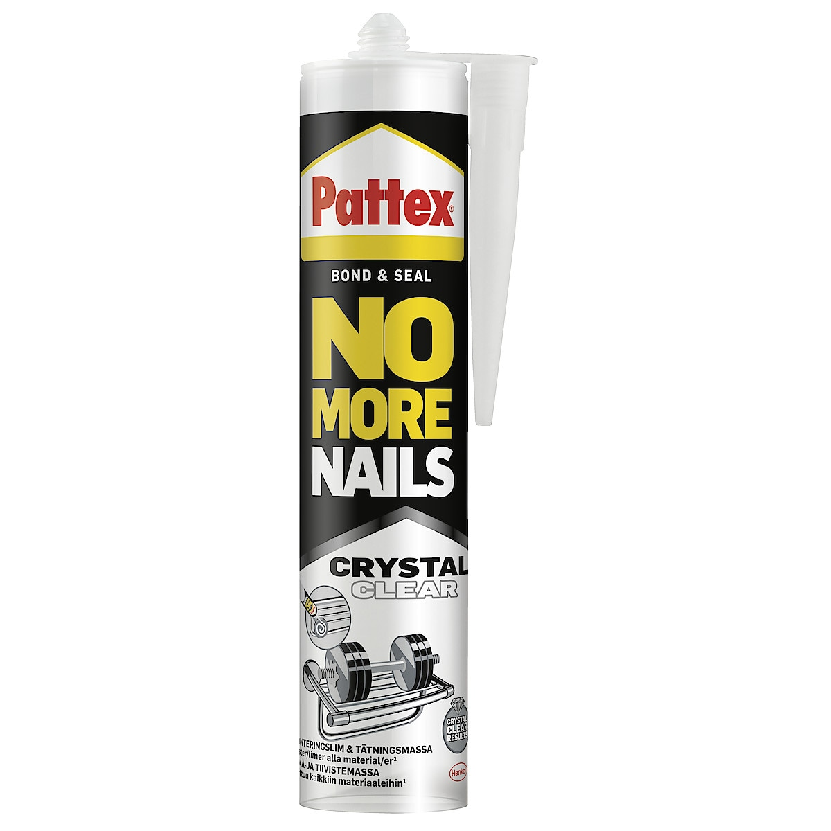 Pattex Montagelim och fogmassa Crystal Clear 280 ml