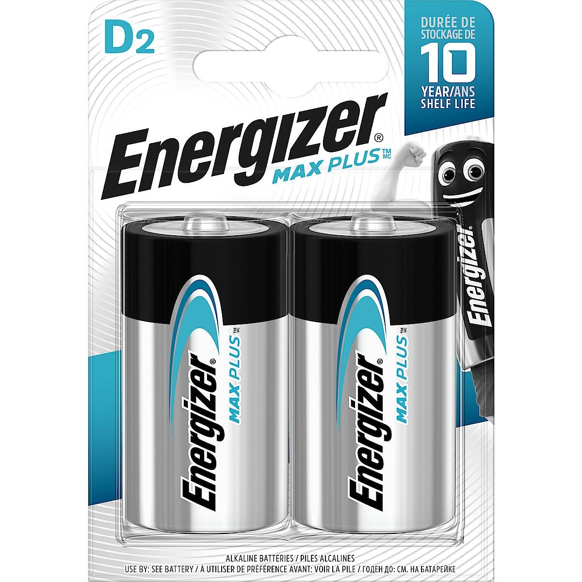 Alkaliskt batteri D/LR20 Energizer Max Plus