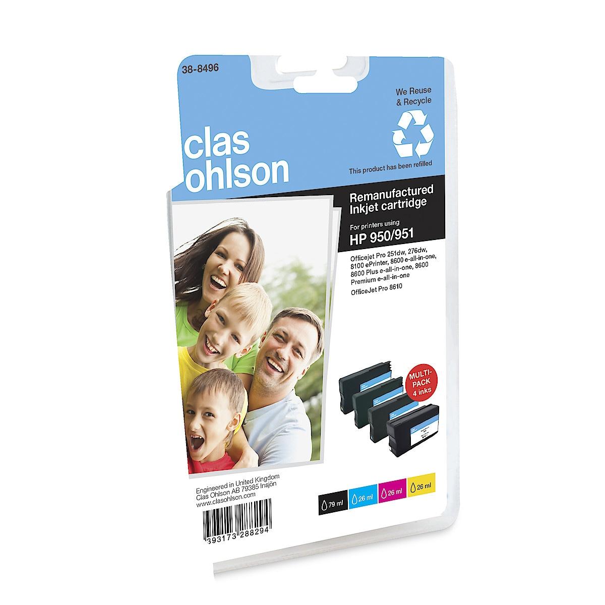 Bläckpatron HP 950 / 951 Clas Ohlson Multipack