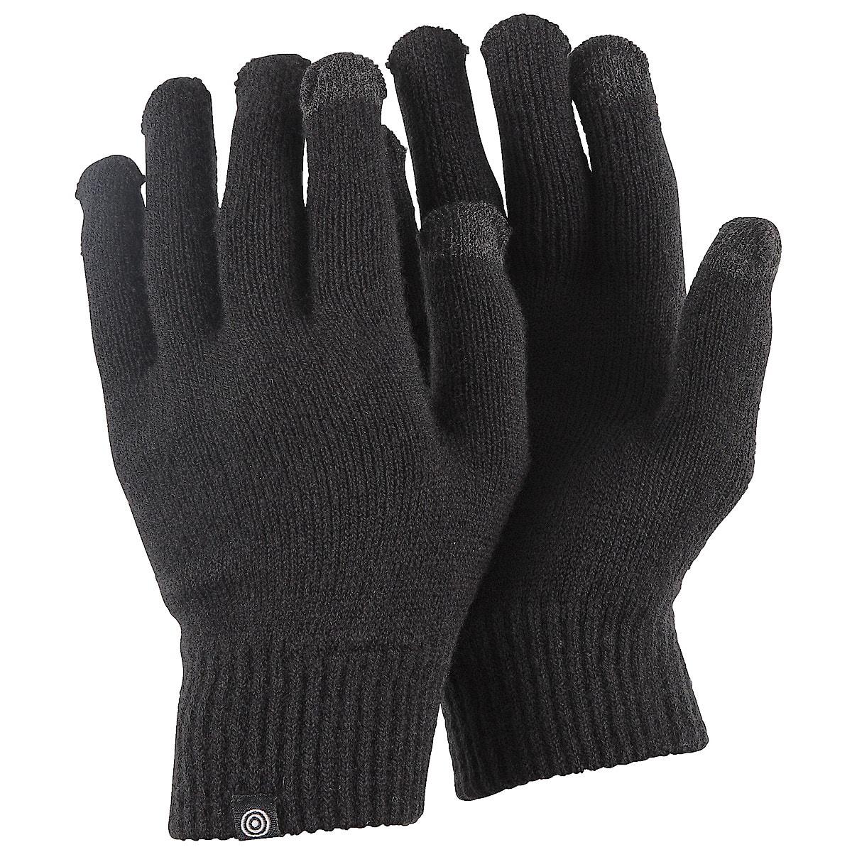 Fingervantar med touch svart
