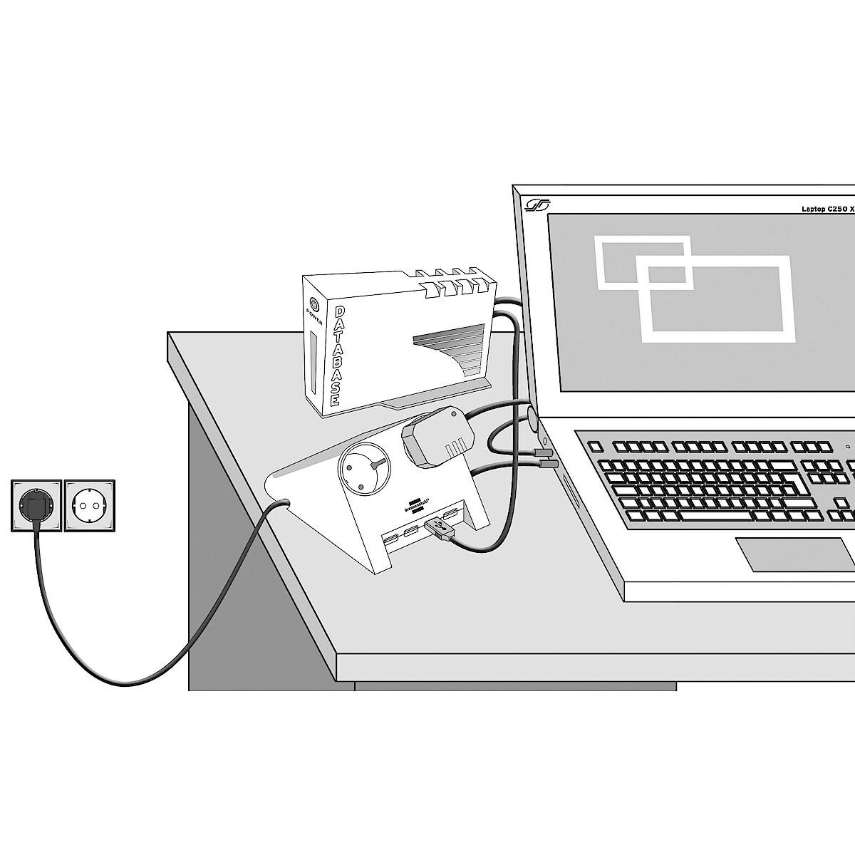 Grenuttak med USB-hub