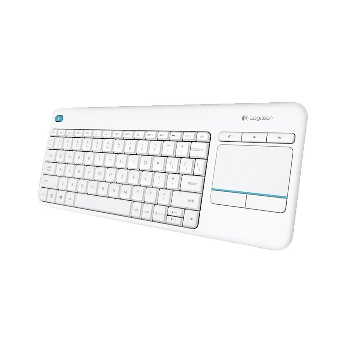 Trådlöst tangentbord med touchplatta, K400 Plus Logitech