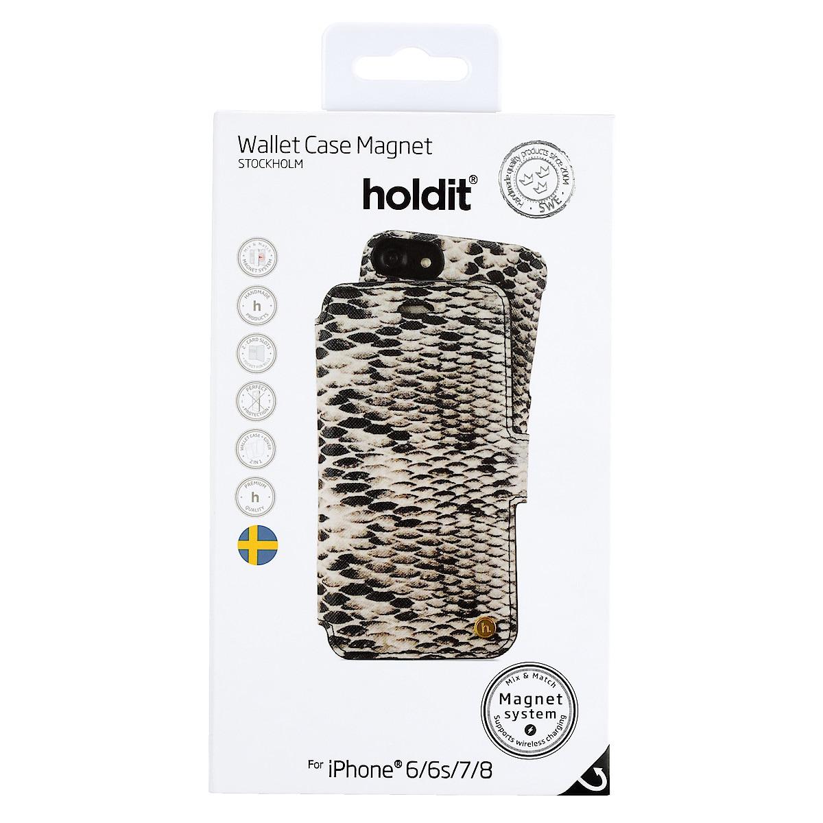 Plånboksfodral Stockholm för iPhone 8/SE 2020, Holdit