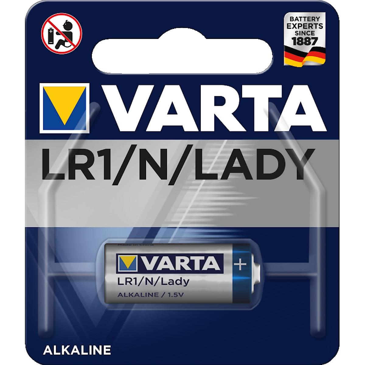 Alkaliskt batteri Varta LR1