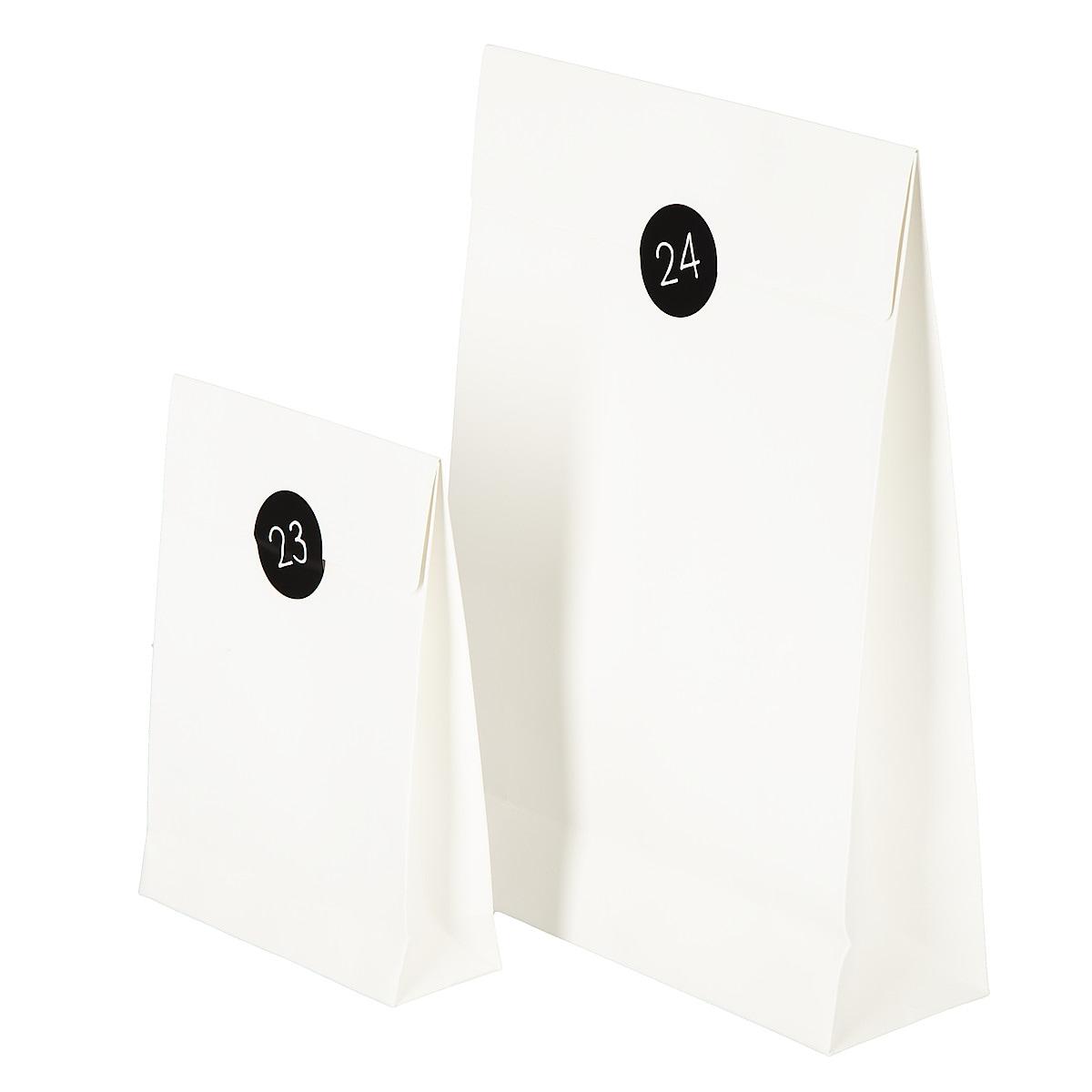 Adventspåsar 24-pack, vit
