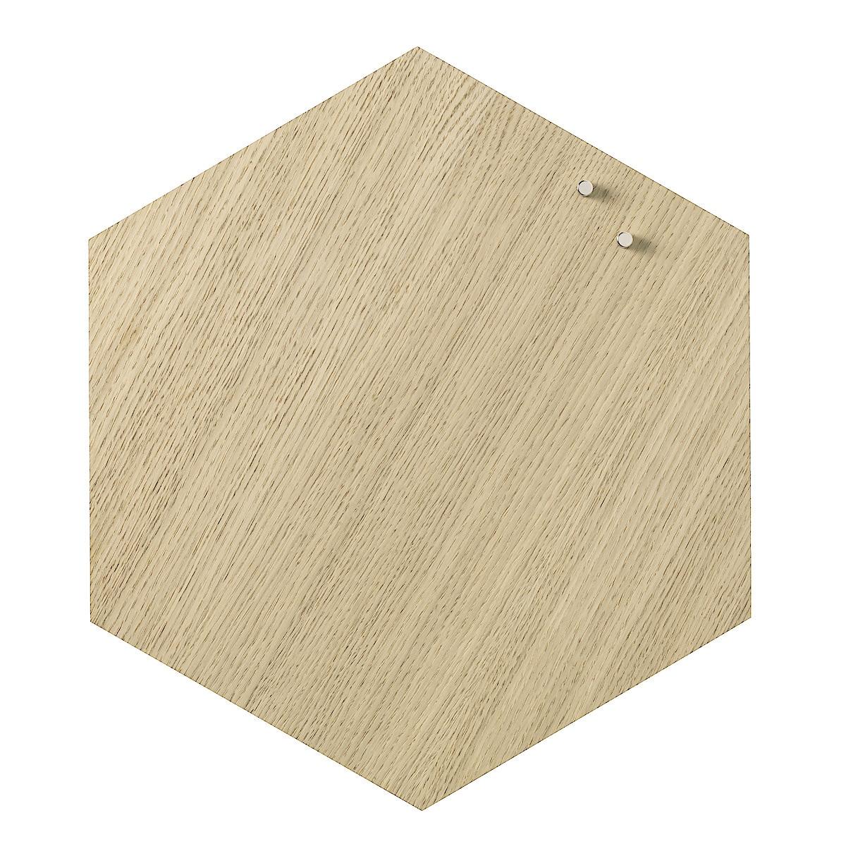 Magnetische Tafel, Naga Hexagonal Eiche, 42 cm