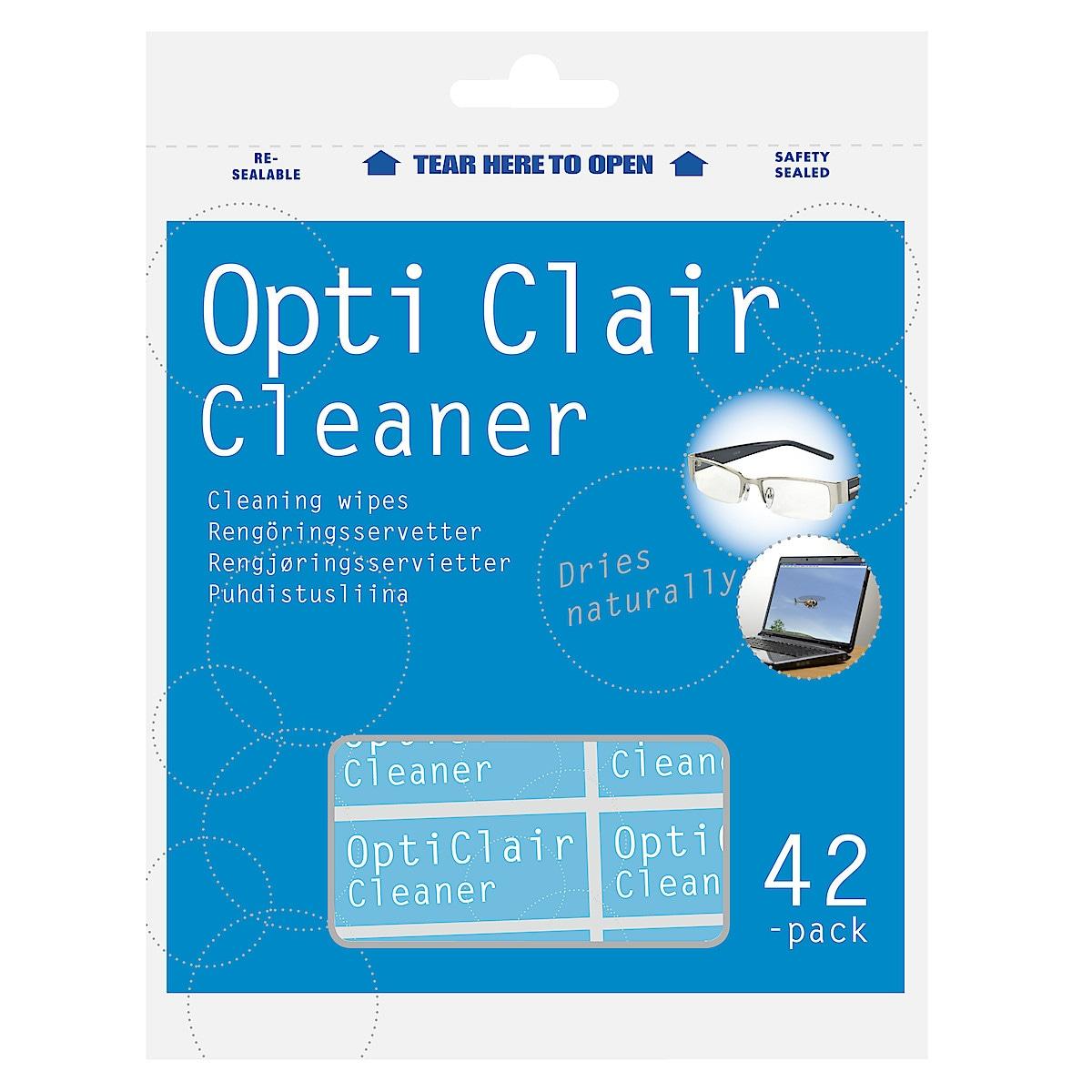 Rengöringsservetter OptiClair
