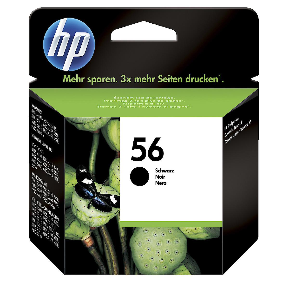Mustepatruuna HP 56/57