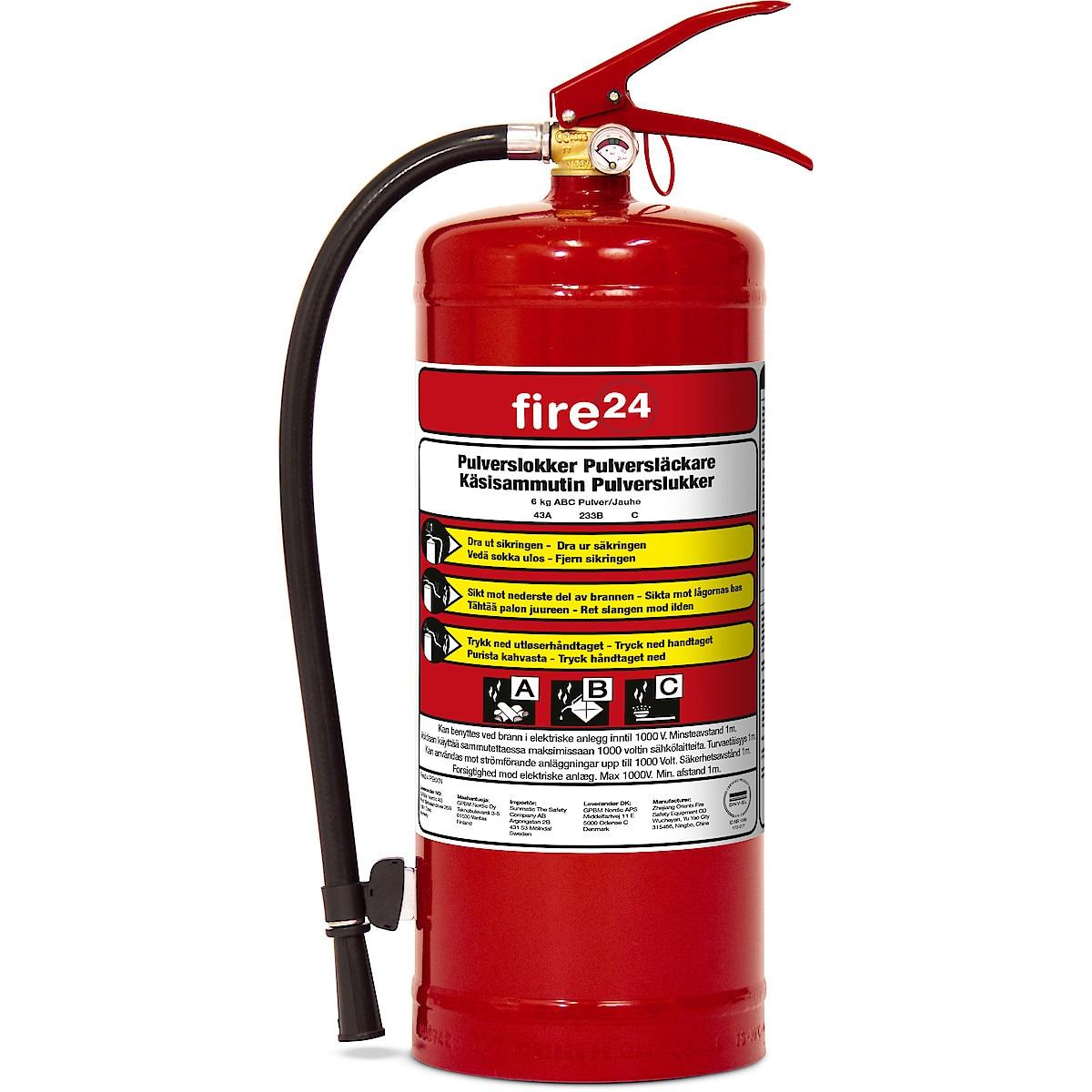 Fire24 Brannslukker 6 kg 43A