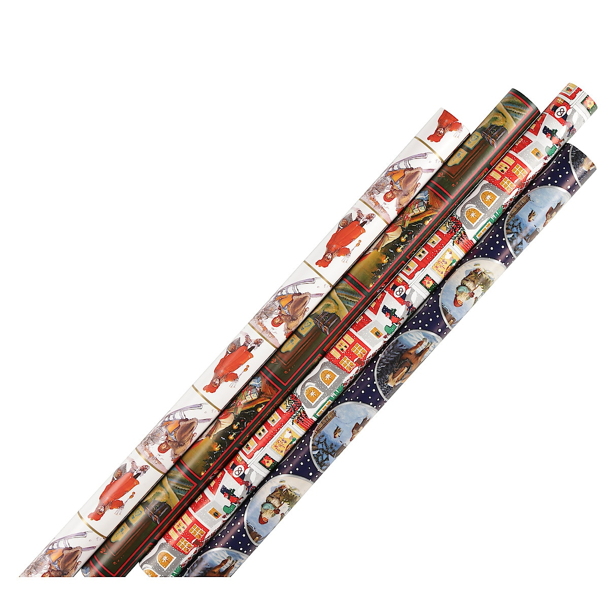 Joulupaperi, erittäin leveä, 4 m x 100 cm.
