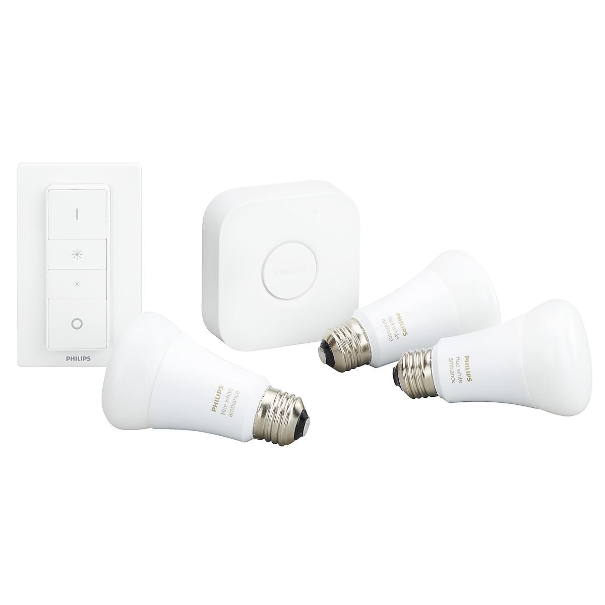 Philips Hue White Ambiance startpakke E27