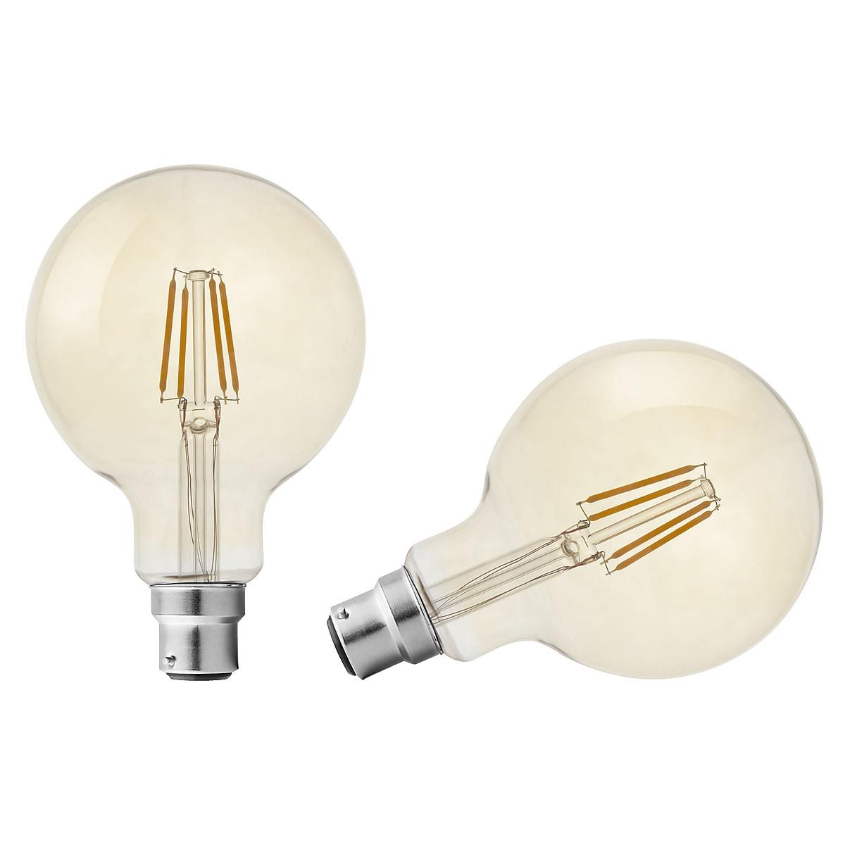 Northlight B22 Dimmable Globe LED Filament Bulb