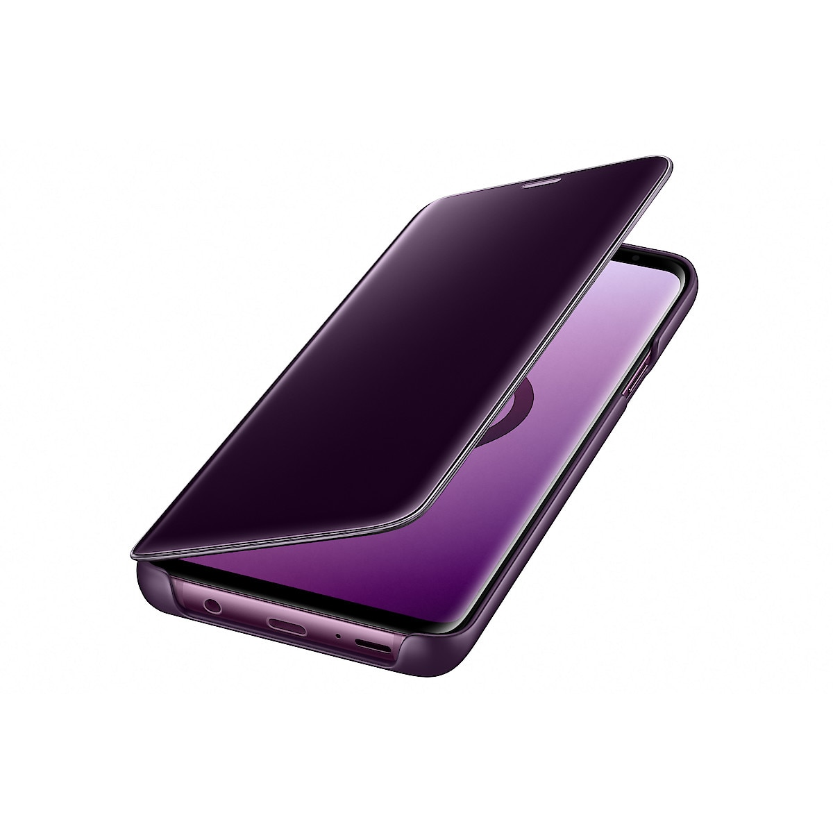 Flip-Case Galaxy S9 Plus, Samsung Clear View Standing Cover