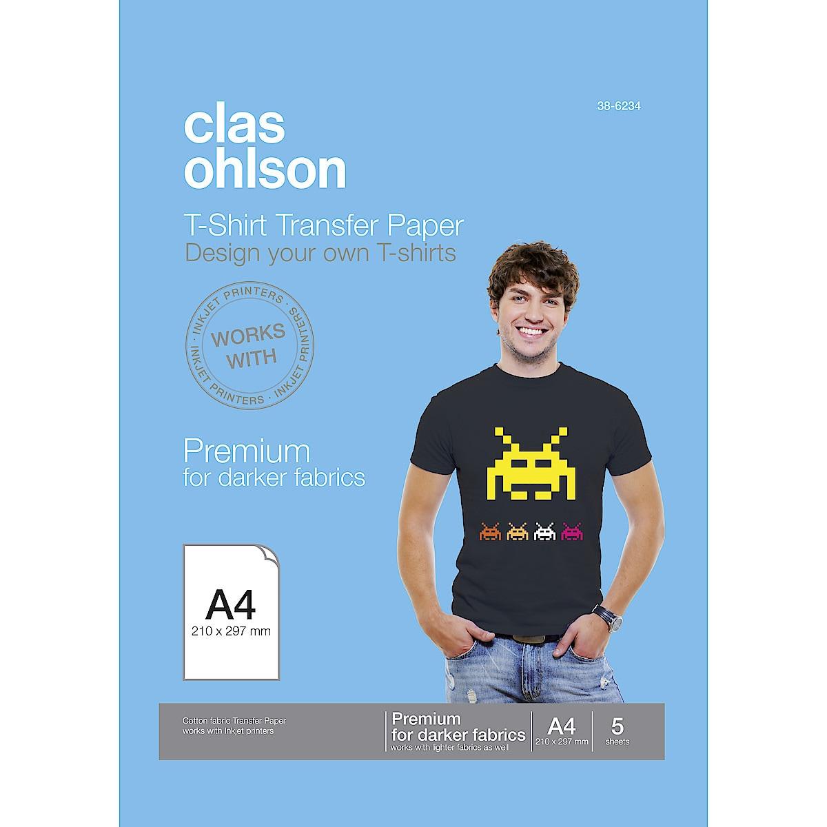 T-shirtpapper för svarta/mörka plagg Clas Ohlson