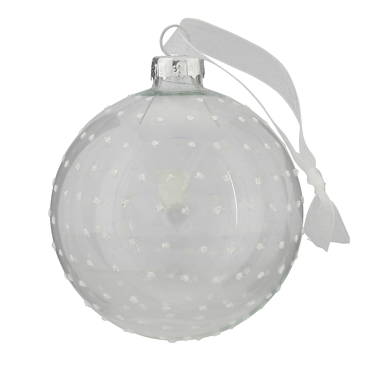 8 cm Christmas Baubles 2-pack