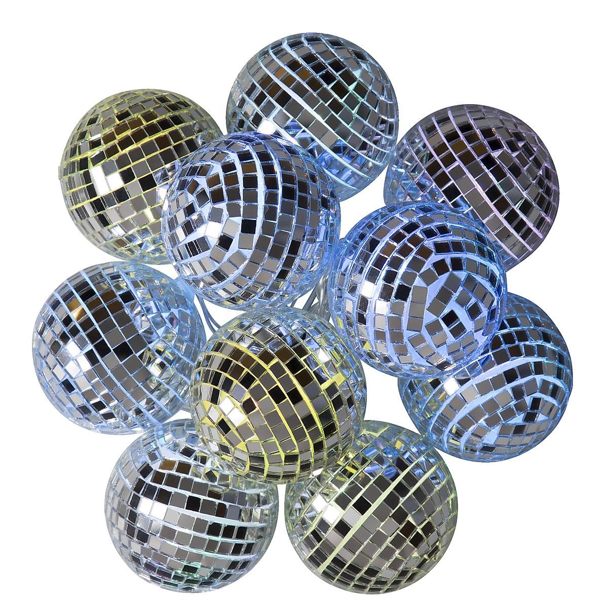 Batteridriven ljusslinga med discokulor