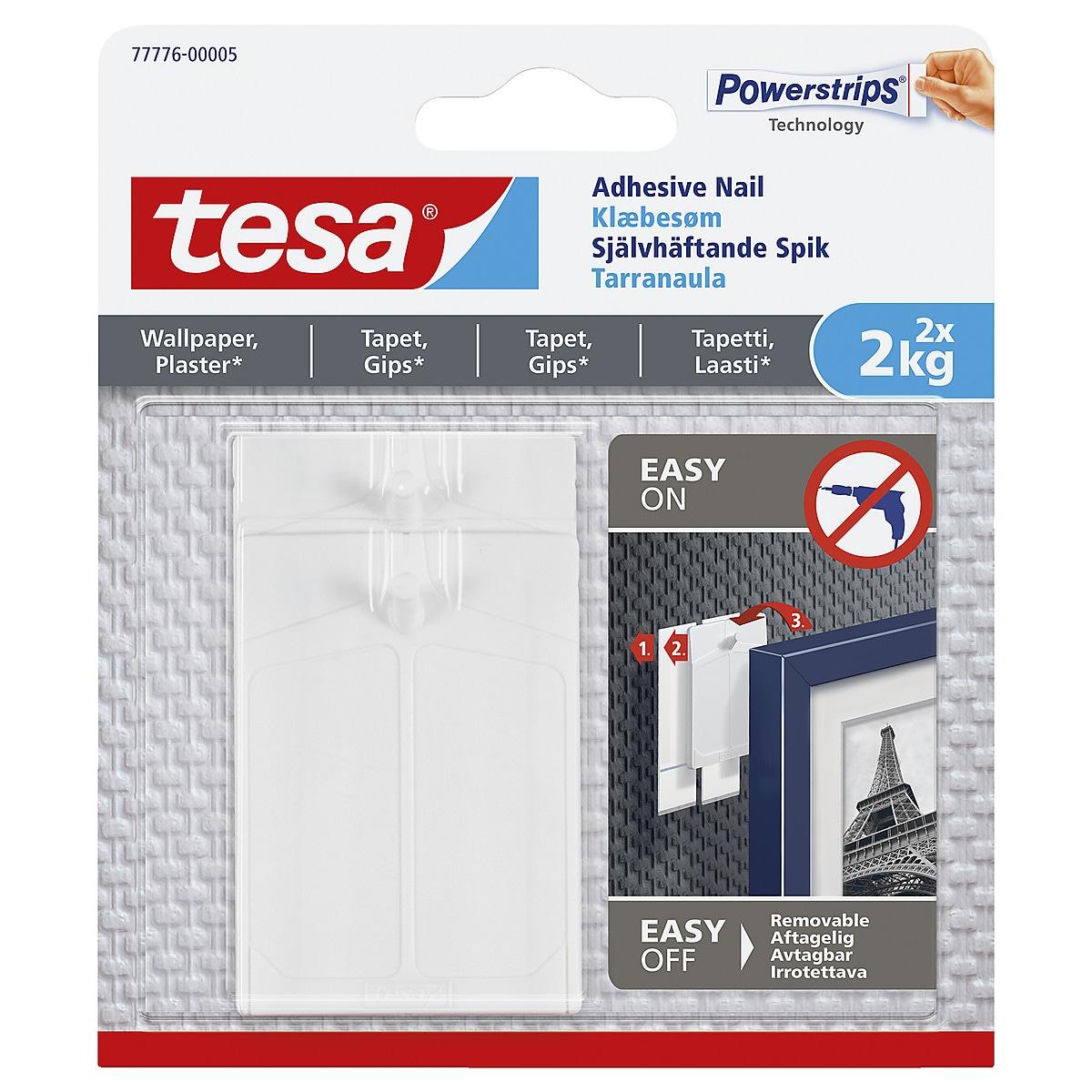 Självhäftande spikar Tesa 2-pack