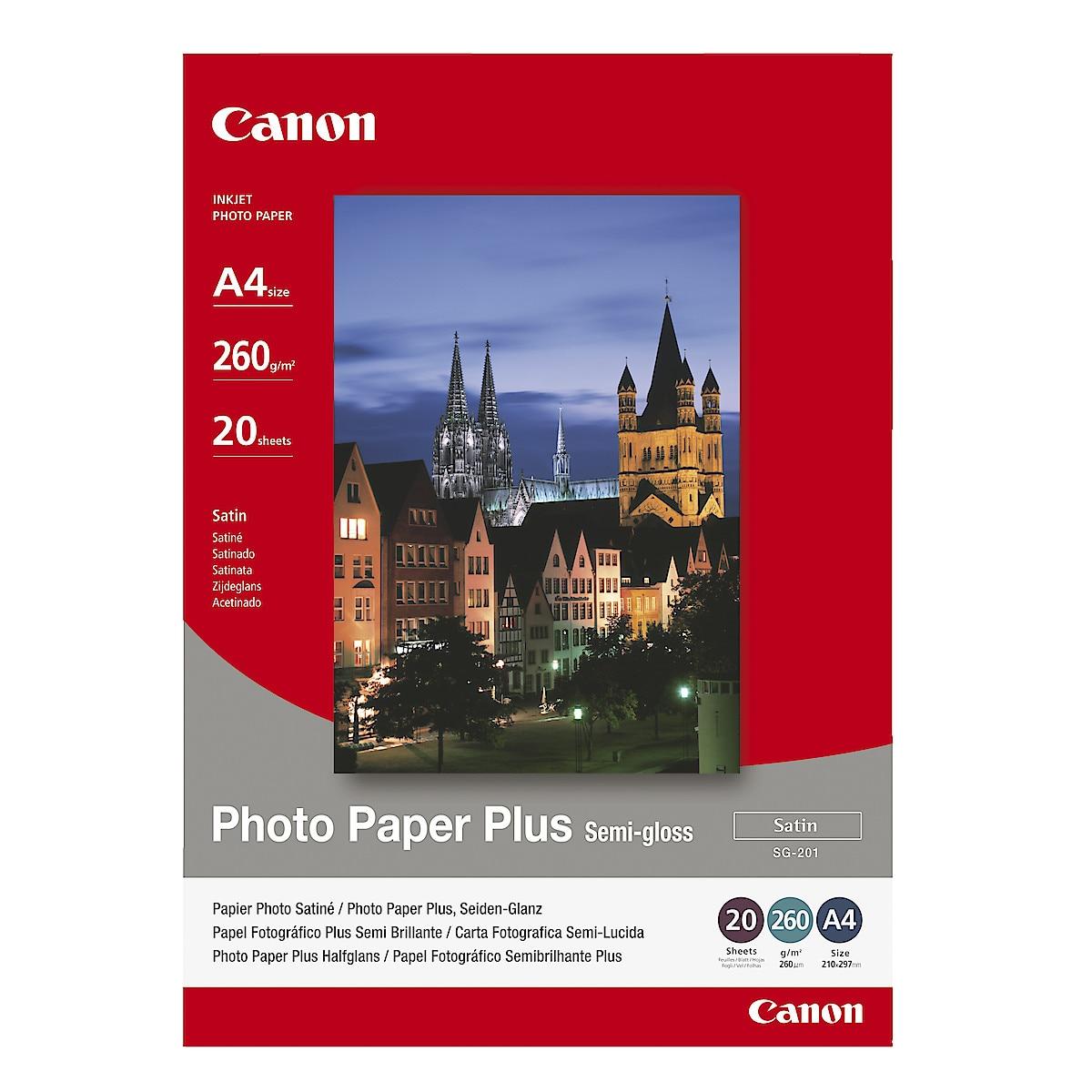Canon Photo Paper Plus Semi-glossy SG-201, A4 blekkskriverpapir