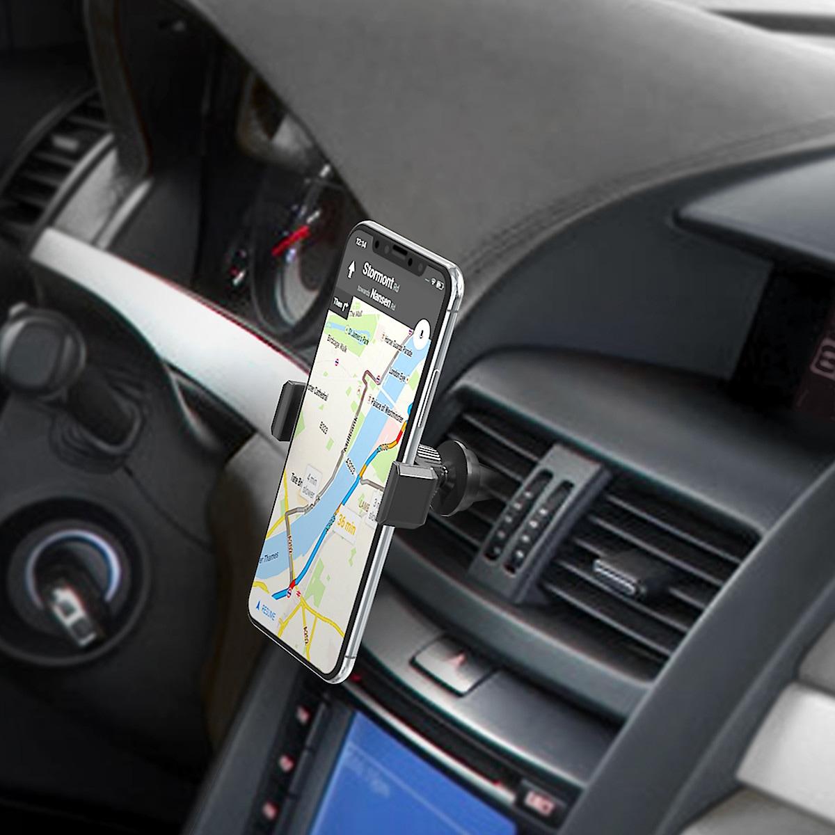 Mobilholder med klemfeste for bil. Celly Mount Vent