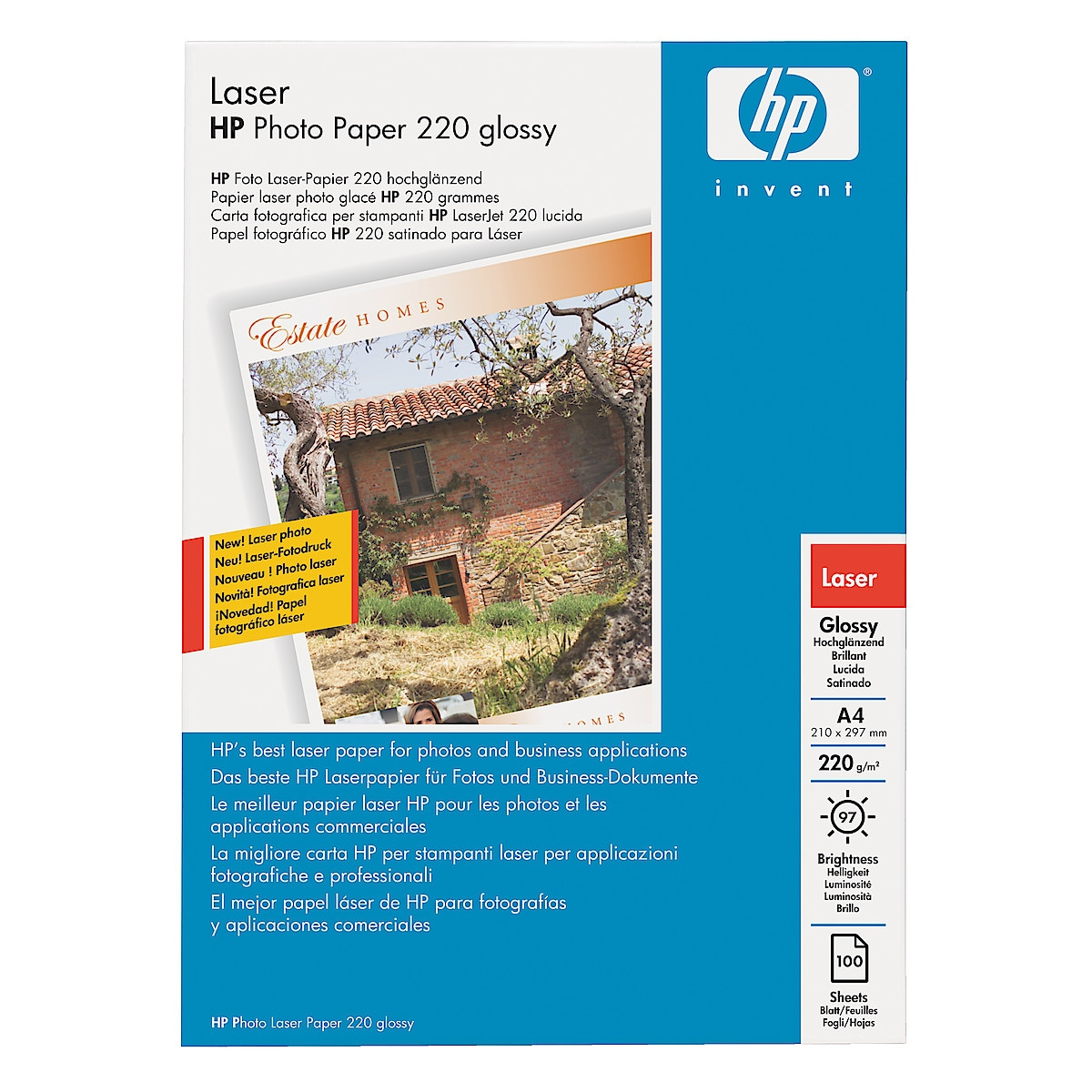 HP Glossy Colour Photo Laser Paper,