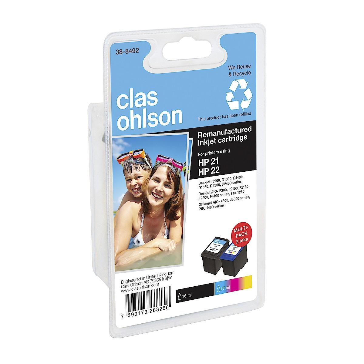 Mustepatruuna HP 21 / 22 XL Clas Ohlson