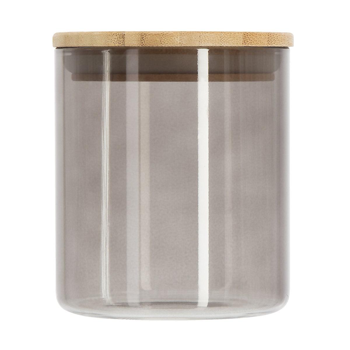 Glasburk med trälock