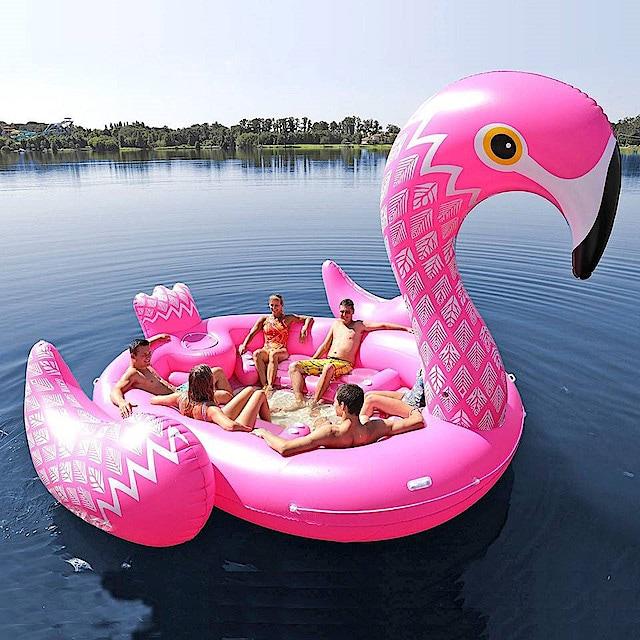 Mega Flamingo oppblåsbar flåte | Clas Ohlson