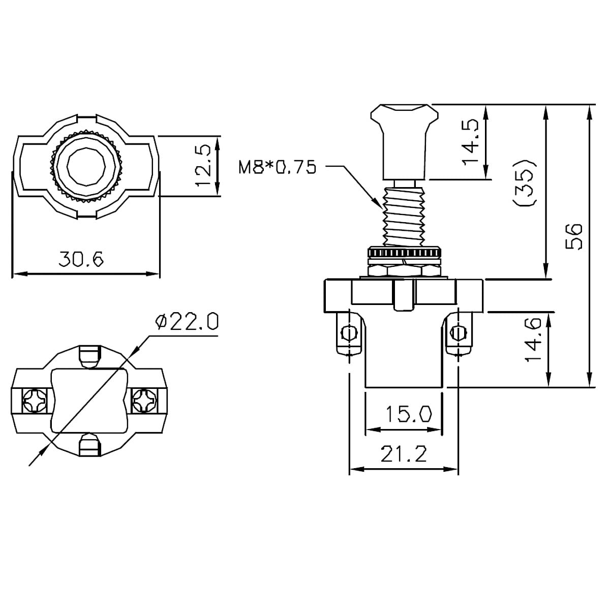 SPST Push Pull Switch