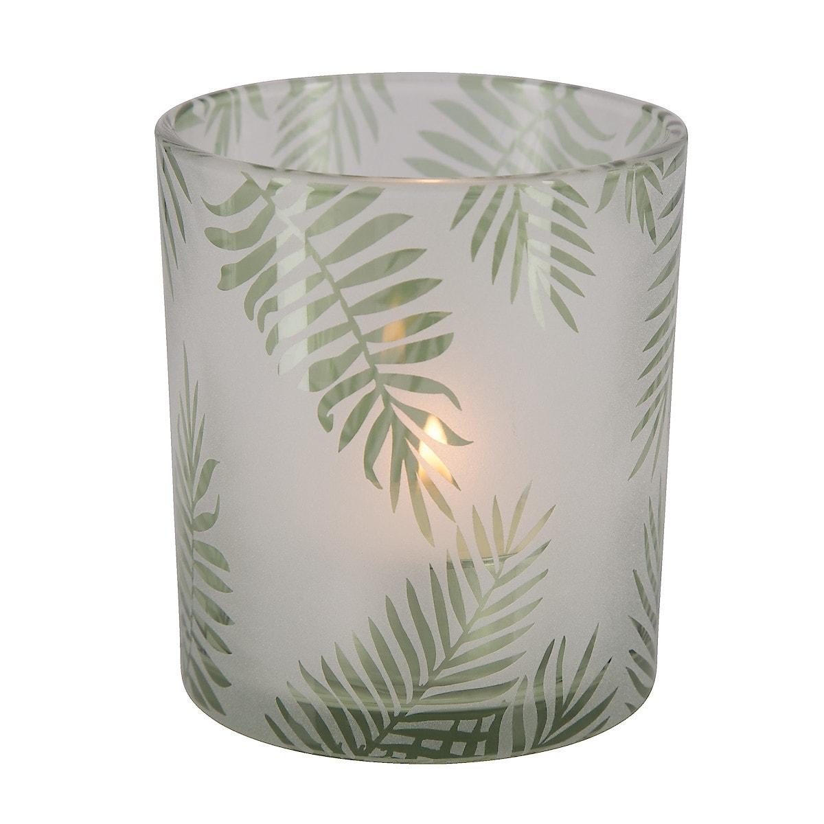 Ljuslykta gröna blad