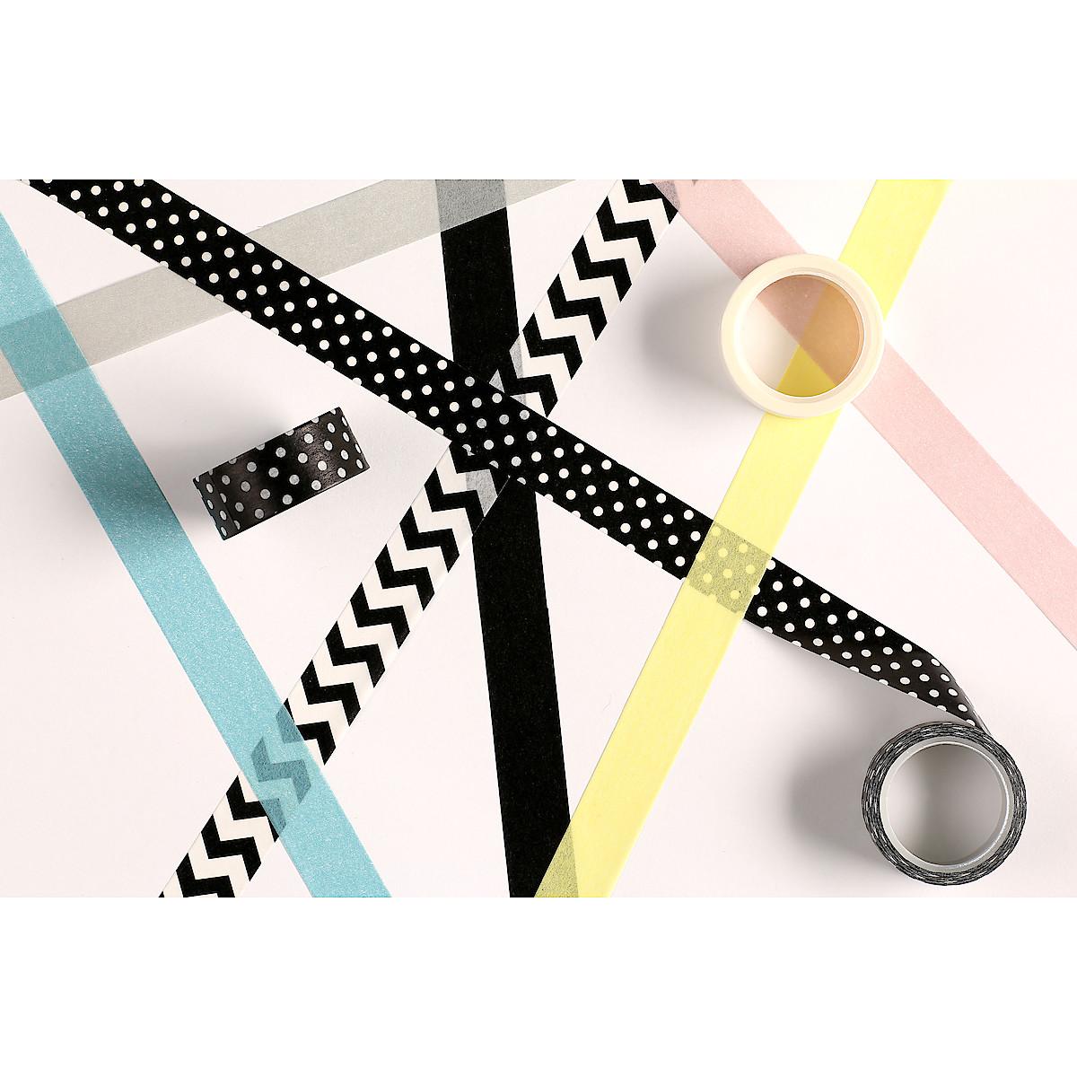 Washi-teip blandede farger, 14-pack