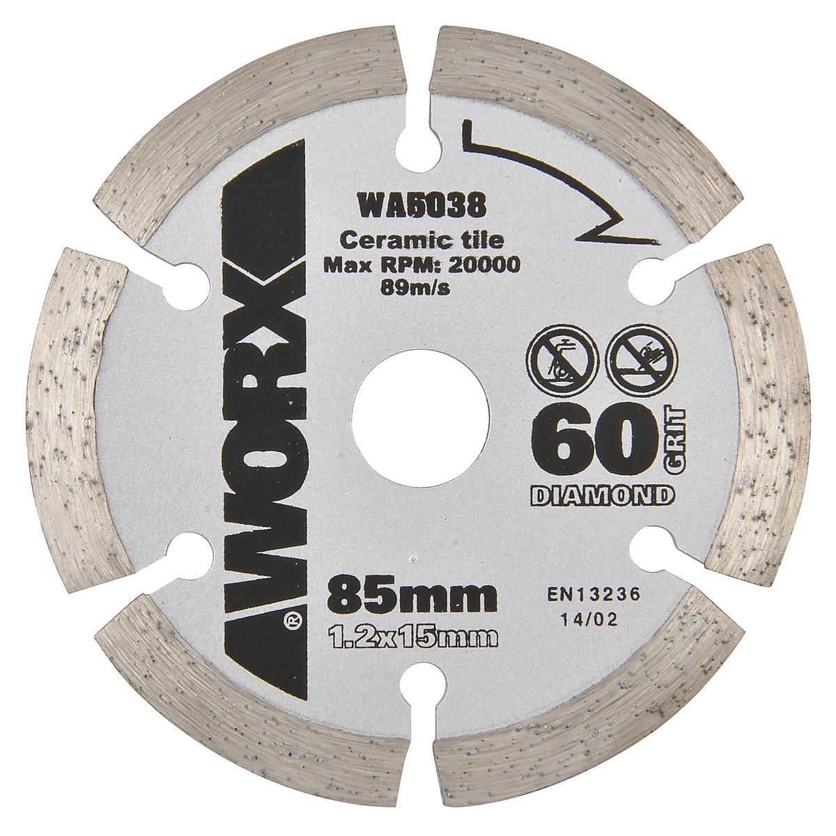 Diamantkapskiva Worx 85 mm