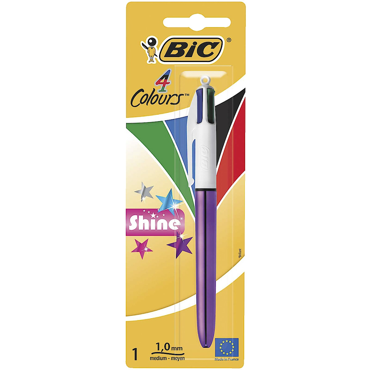 Bic 4 colours Shine Pen