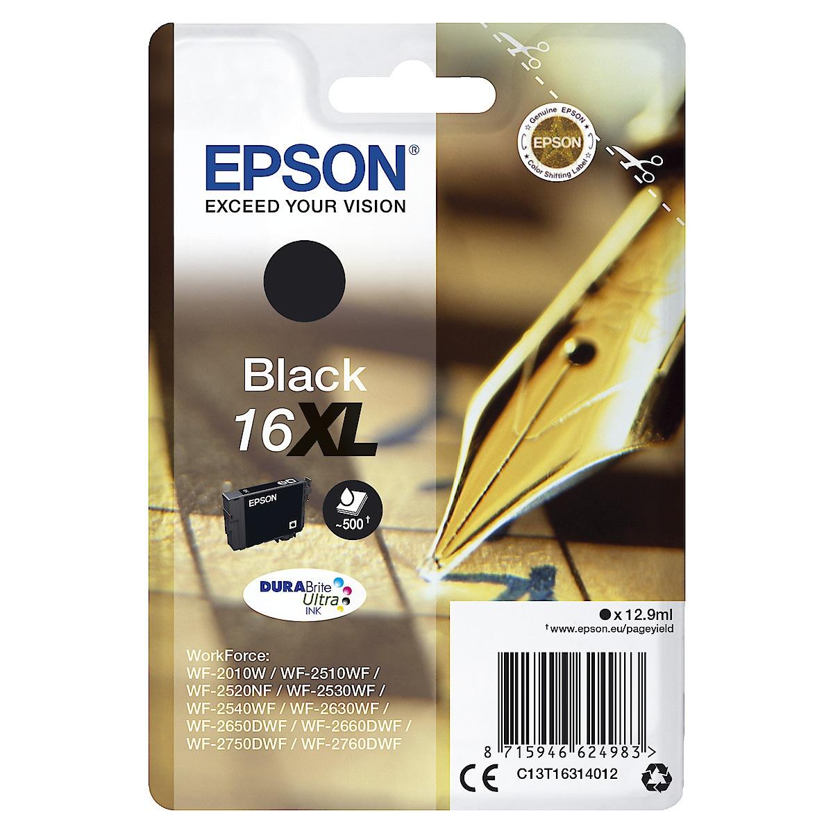 Mustepatruuna Epson 16