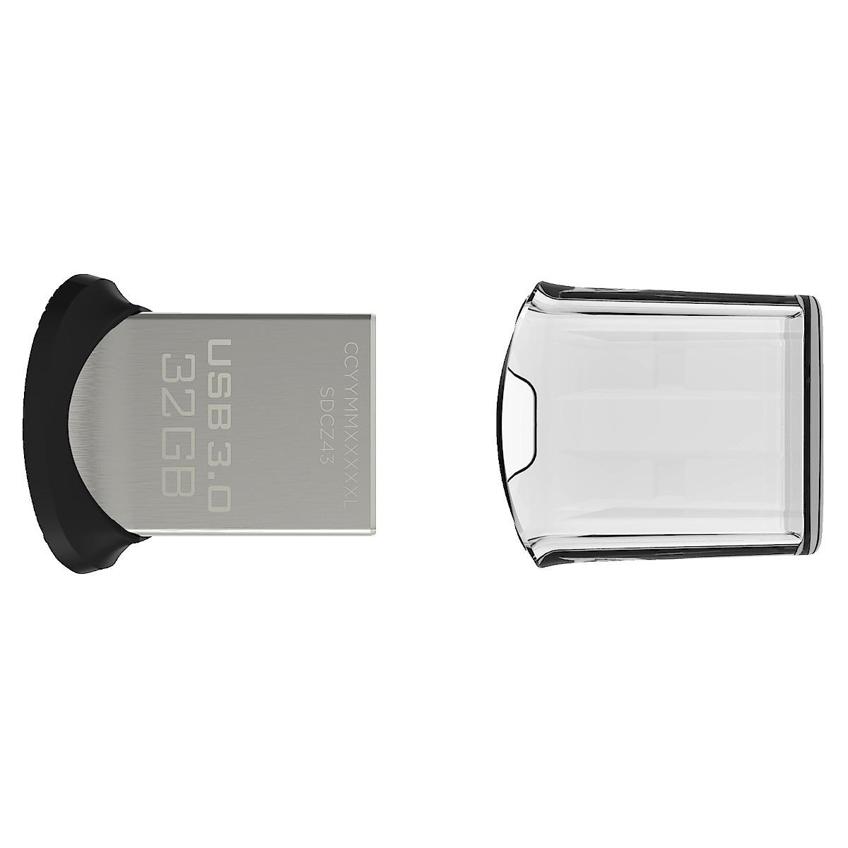 SanDisk Ultra Fit Flash Drive USB-minne USB 3.0 32 GB