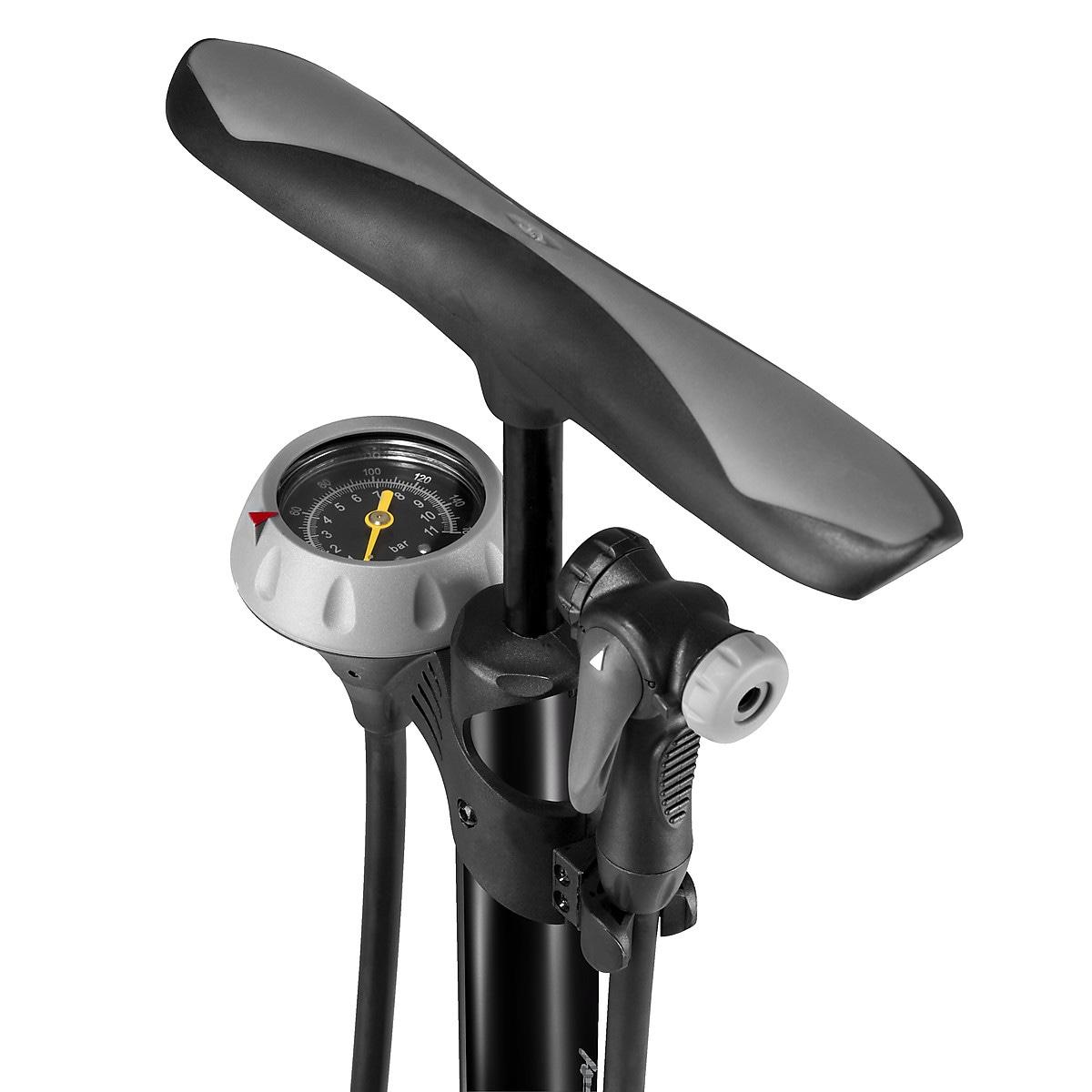 Cykelpump med tryckmätare, Asaklitt